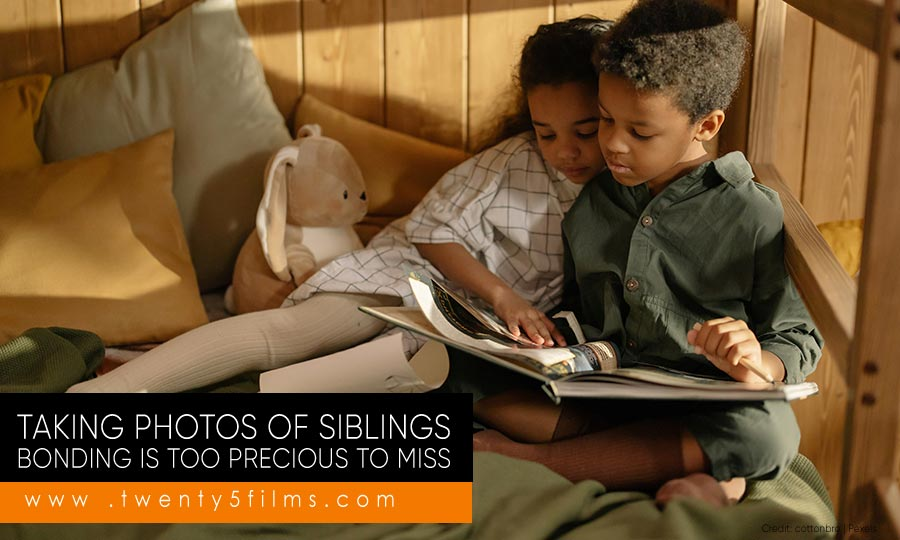 Taking photos of siblings bonding is too precious to miss